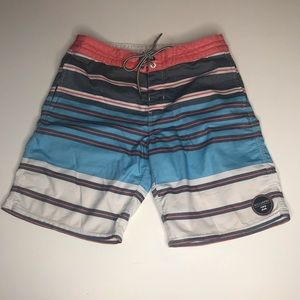 Billabong Stripe USA Red White Blue Board Shorts
